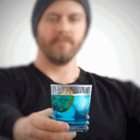 drink blue monday